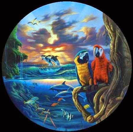 Paraíso - Jim Warren pinta sonhos e ilusões de maneira fantástica.