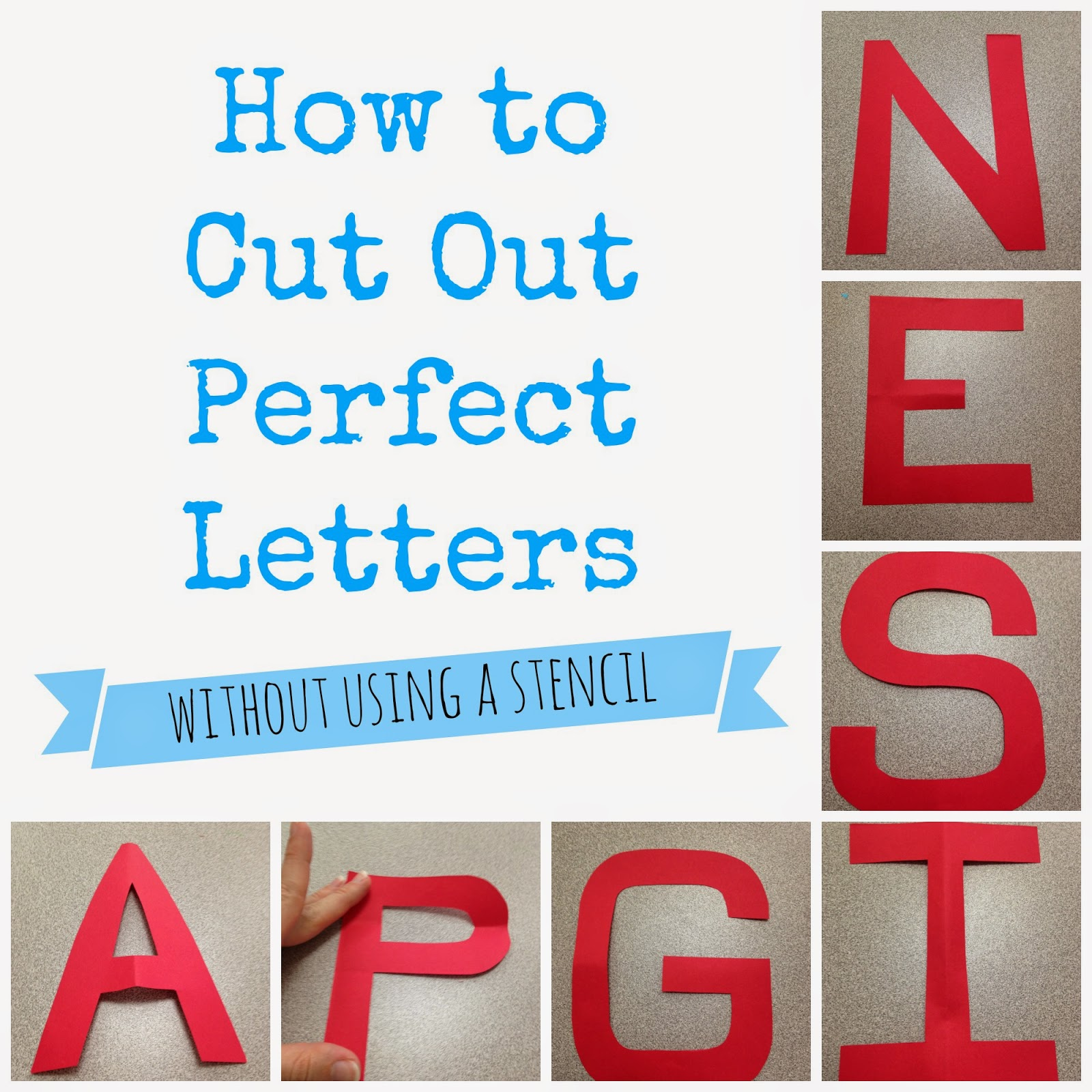 The Morgan S How To Cut Out Perfect Letters
