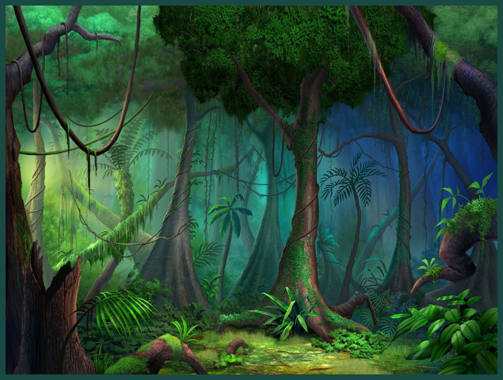 Fondo De Pantalla Selva: Fondo De Pantalla Para Niños Pequeños Selva Verde