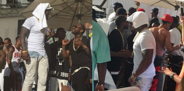 Davido parties on stage with 50cent in Vegas aviddo3