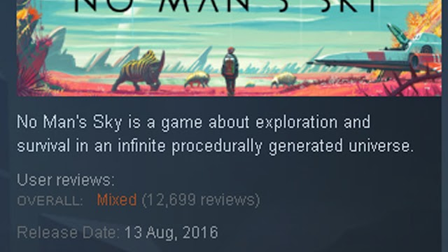 No Man's Sky is hanging on an overall Mixed Review Rating