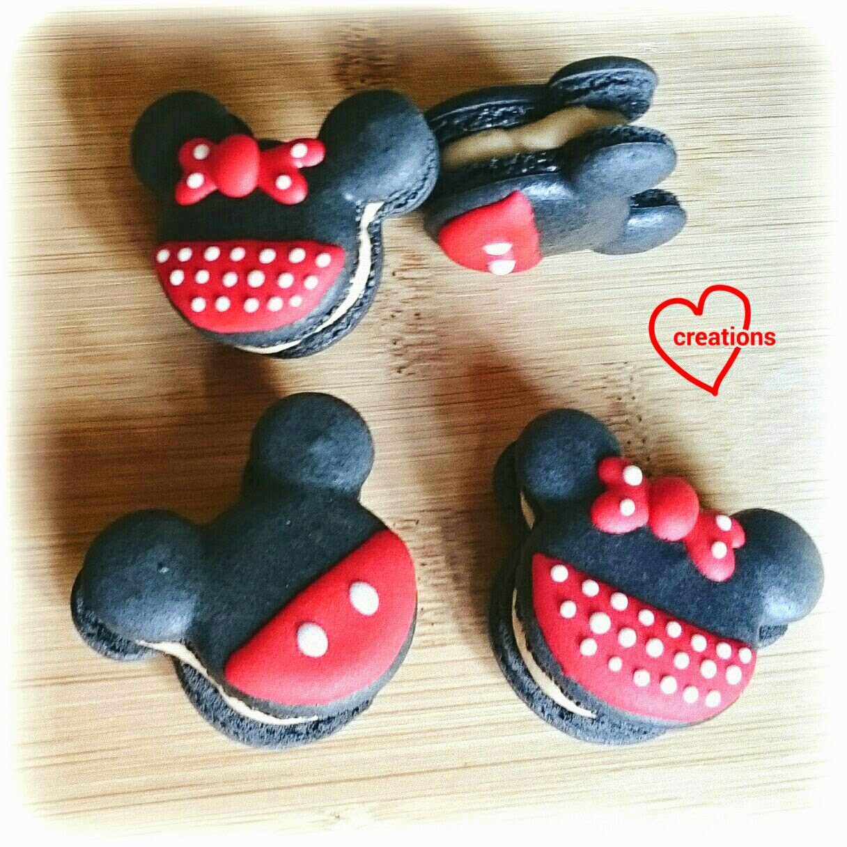 Loving Creations For You Mickey And Minnie Mouse Macarons