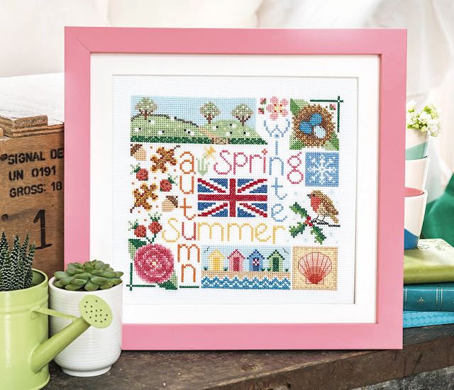 British Four Seasons Design for The World of Cross Stitching Magazine