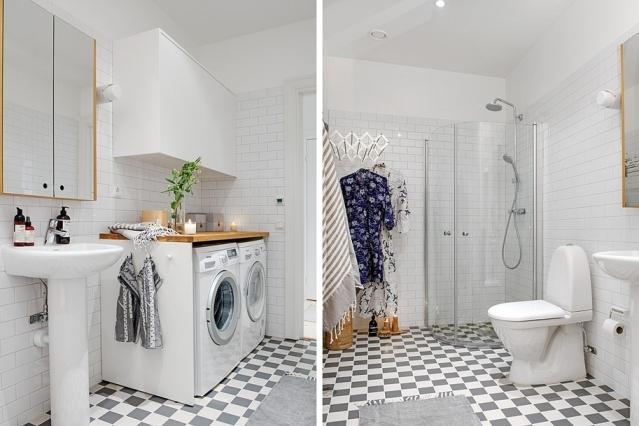 baño con lavadora integrada