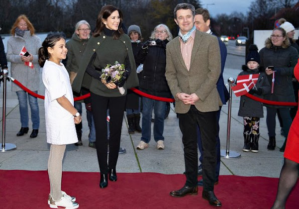 Crown Princess Mary wore Stenströms Pine Green Merino wool cape. The Crown Princess wore a merino wool cape by Stenströms