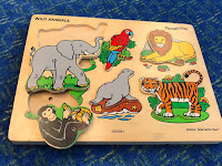 jungle animal puzzle with sound features