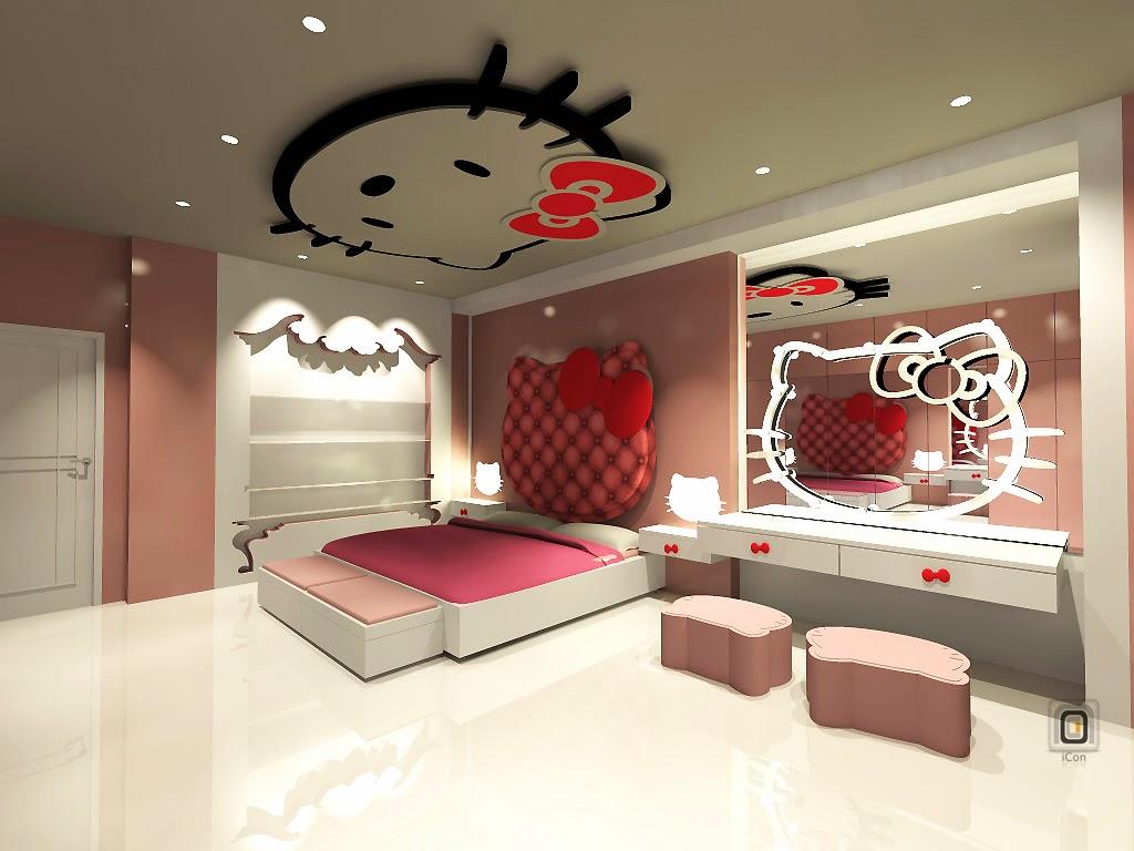 Desain Kamar Tidur Modern Hello Kitty Desain Kamar Tidur Terbaru