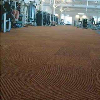 Greatmats Dominator LP Gym Carpet Tile in commercial gym