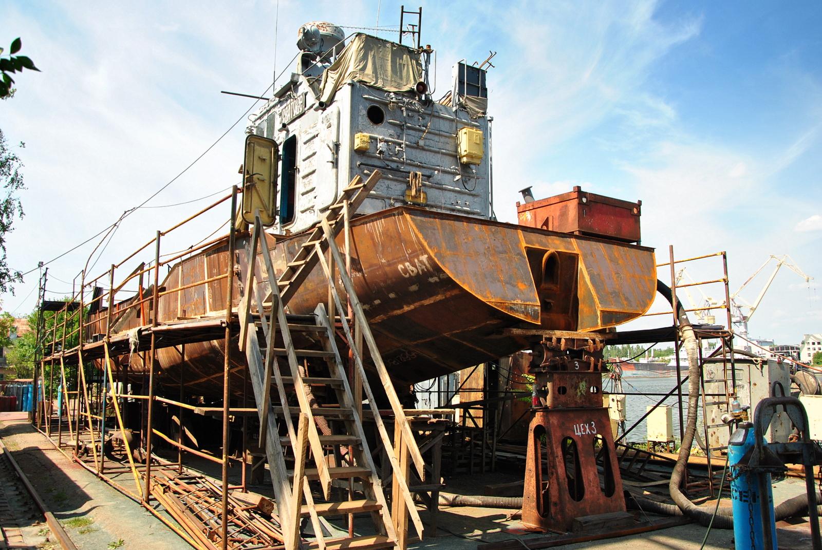ремонту десантного катеру «Сватове»