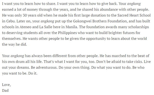 Lance Gokongwei's 'Letter To His Children' Is What We All Need To Hear