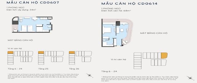 Thiết kế căn hộ 34m2 và 68m2