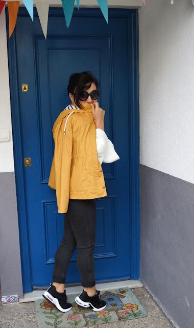 mustard-Striped-Hooded-Jacket