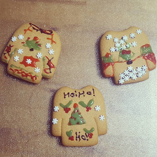 Gingerbread Christmas Jumper Cookies