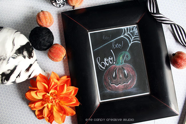 halloween chalk art, chalk art drawing, hand lettering, boo, halloween art