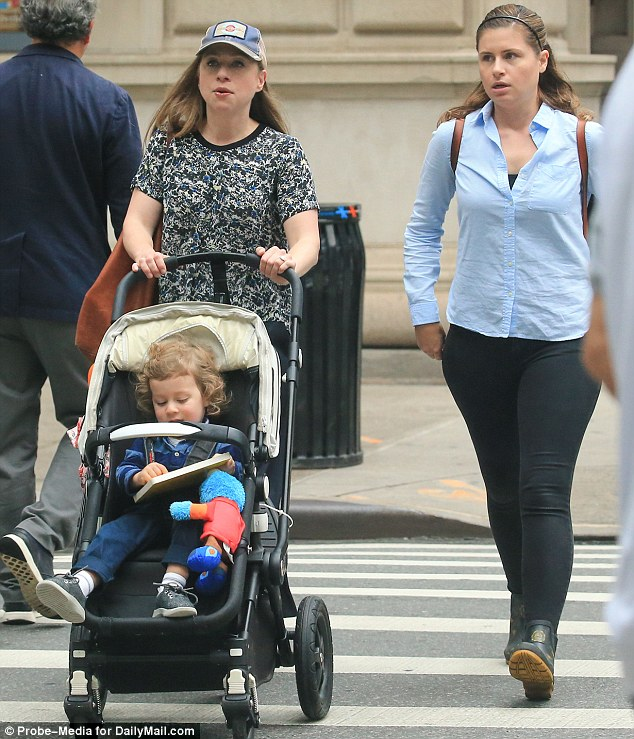 Chelsea Clinton steps out with her son Aidan for a stroll