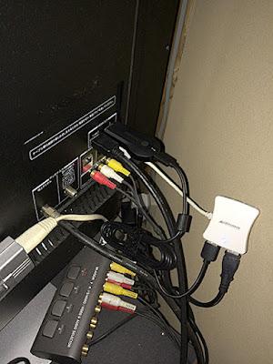 TVの裏のHDMI端子