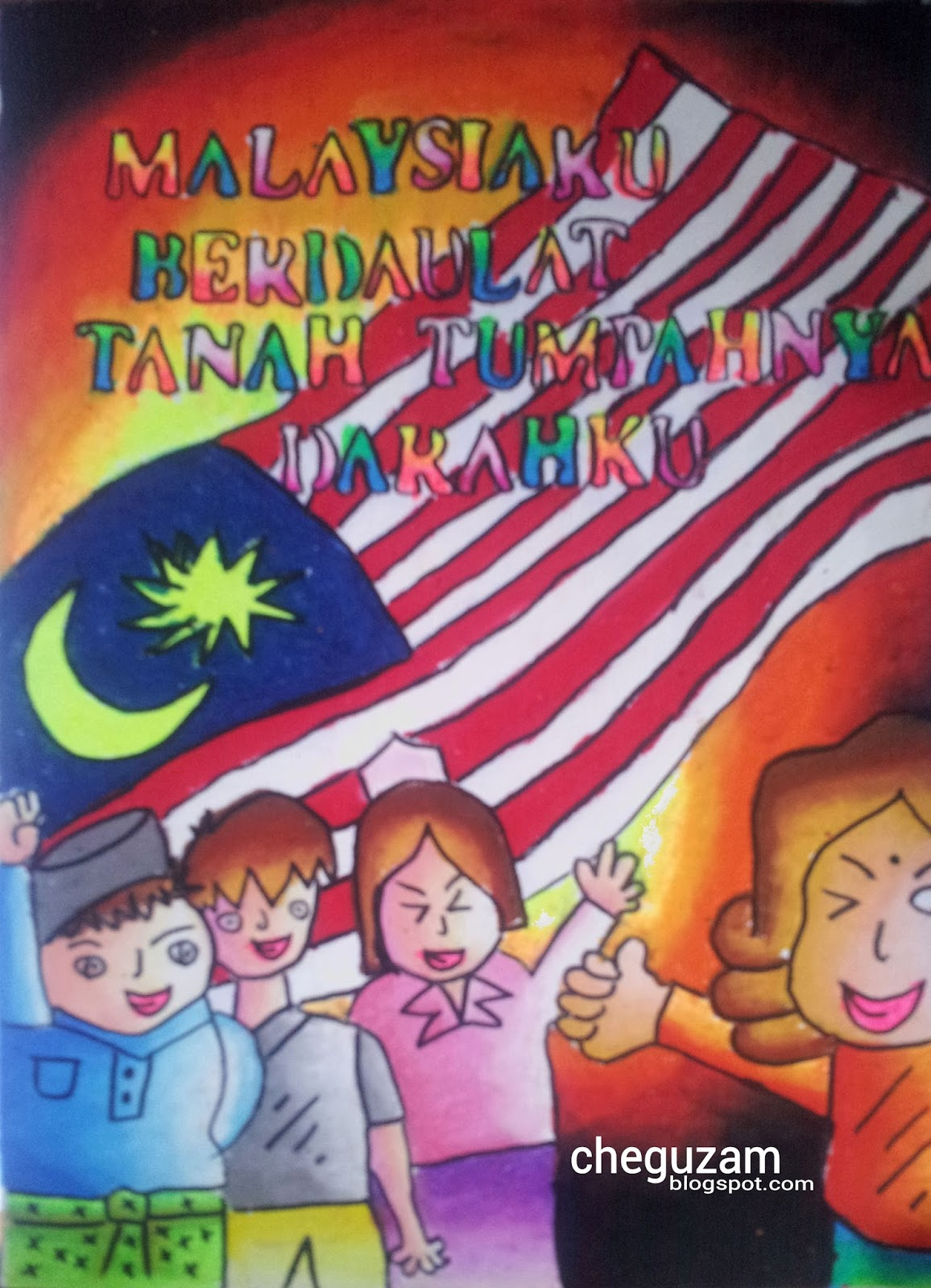 Lukisan Poster Hari Kemerdekaan Simple Cikimm Com