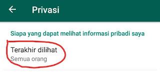 Cara Menghilangkan Terakhir Dilihat di WhatsApp 5
