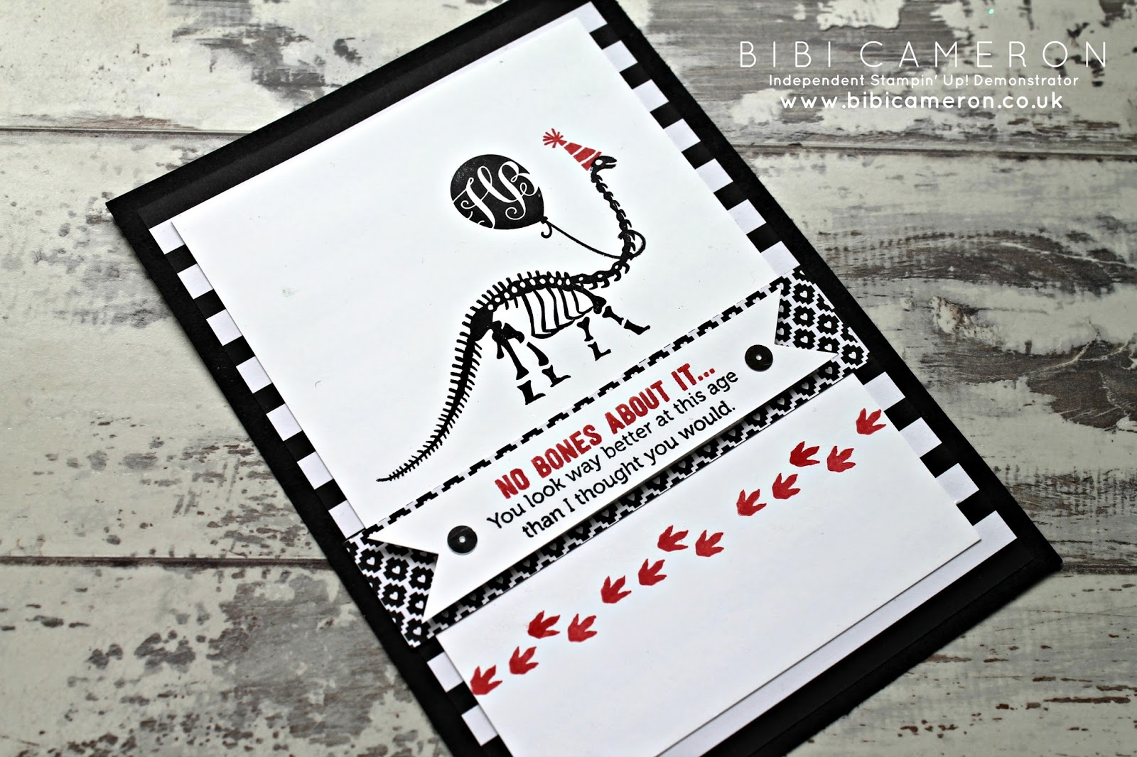 No Bones About It Stampin Up Adults Fun Birthday Card