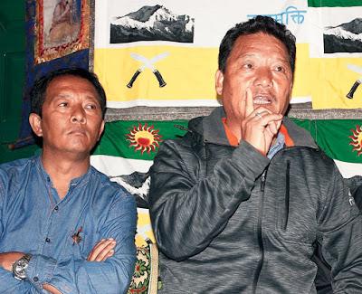 Bimal Gurung with Binay Tamang
