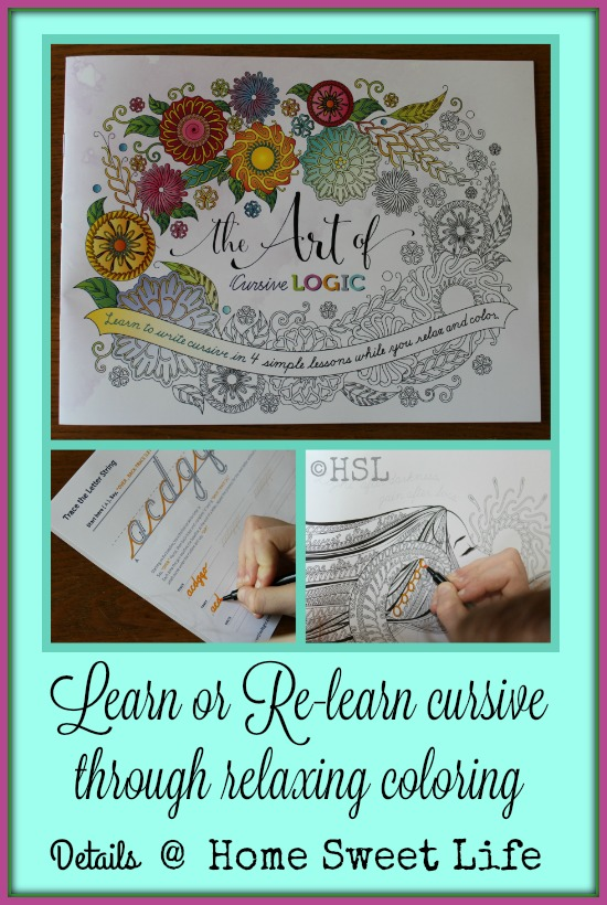 Home Sweet Life: Learn Cursive with This New Adult Coloring Book ...