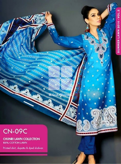 Latest Gul Ahmed Bandhani Chunri Collection 2014 for Girls