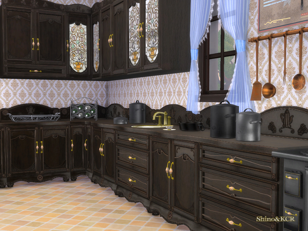 My sims 4 blog shinokcr 39 s french quarter kitchen and decor for Decor quarters