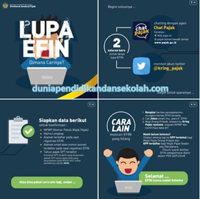 Mengurus Lupa Efin, Pembuatan Kode Billing, Kode Verifikasi SPT Tahunan Lebih Mudah Via Twitter dan Live Chat