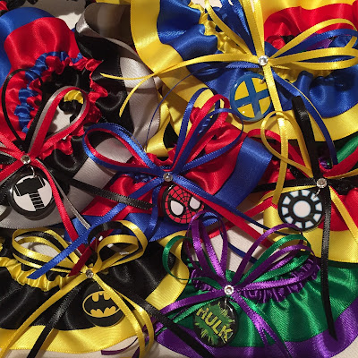 superhero wedding garters