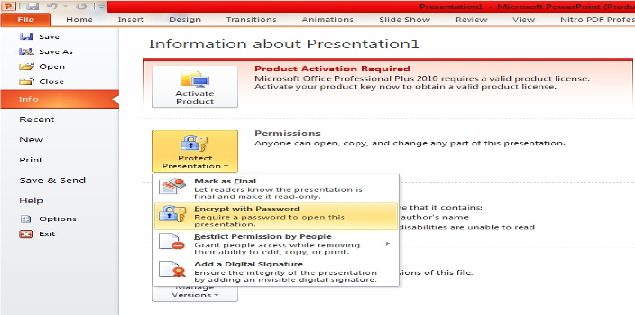 How To Add Password To Office Documents