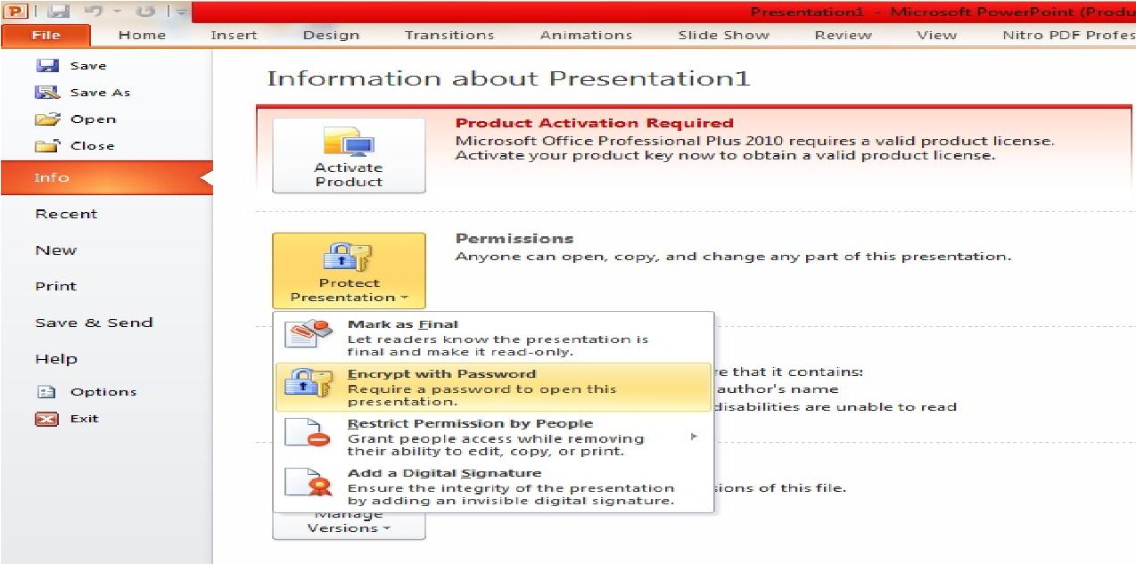 add password to pdf document