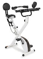 "FitDesk FDX 3.0 Desk Exercise Bike, 16x19"" desk top with padded armrests & massage rollers, 8 resistance levels"