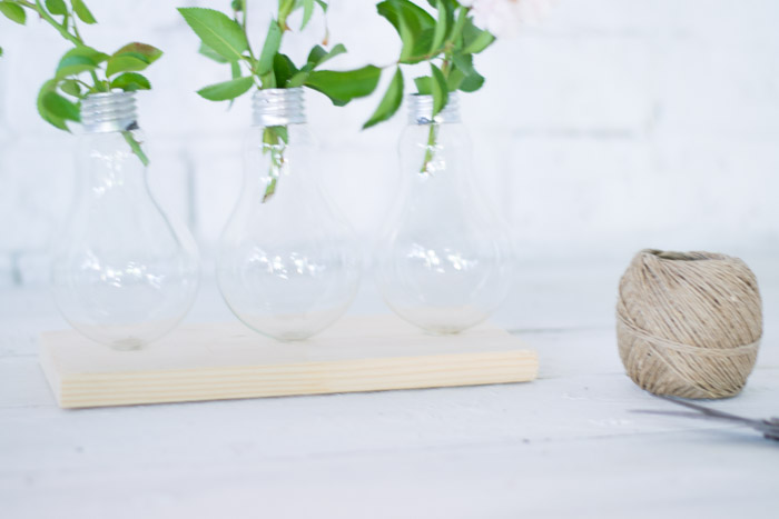 Crea un jarrón con bombillas