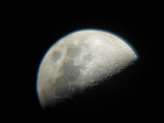 good afocal shot of Moon during Lunar X