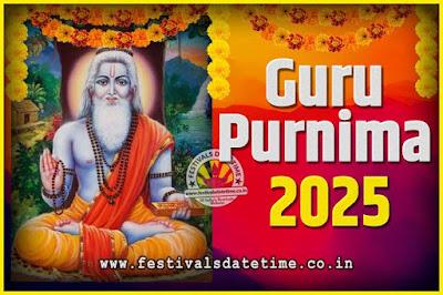 2025 Guru Purnima Pooja Date and Time, 2025 Guru Purnima Calendar