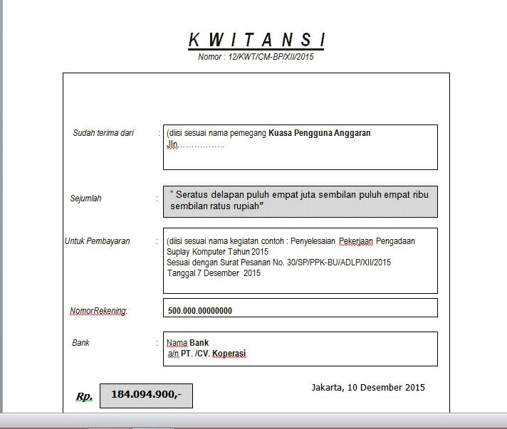 Contoh Surat Permohonan Pembayaran Barang Lengkap ...