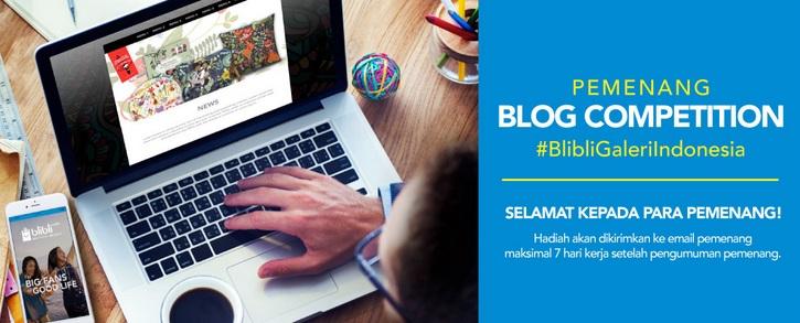 Senangnya, Tulisan Saya Terpilih Menjadi Pemenang Nominasi 5 Artikel Terbaik Versi Blibli.com Blog Competition