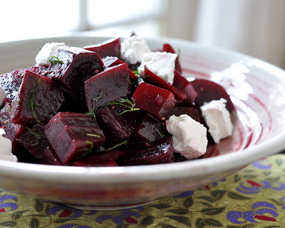 How to Make a Roasted Beet Salad, another easy salad for one or for company ♥ AVeggieVenture.com.