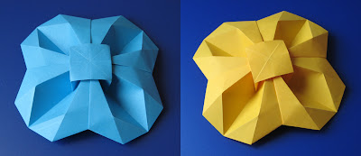 Origami Fiore geometrico - Geometric Flower, by Francesco Guarnieri