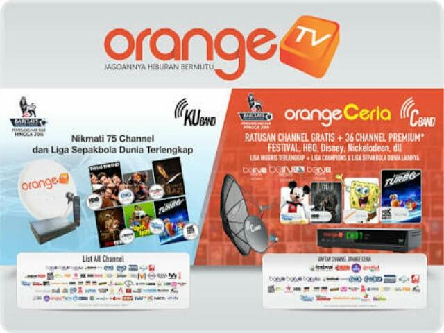 Frekuensi dan Daftar Channel Orange TV Terbaru di Telkom 3s