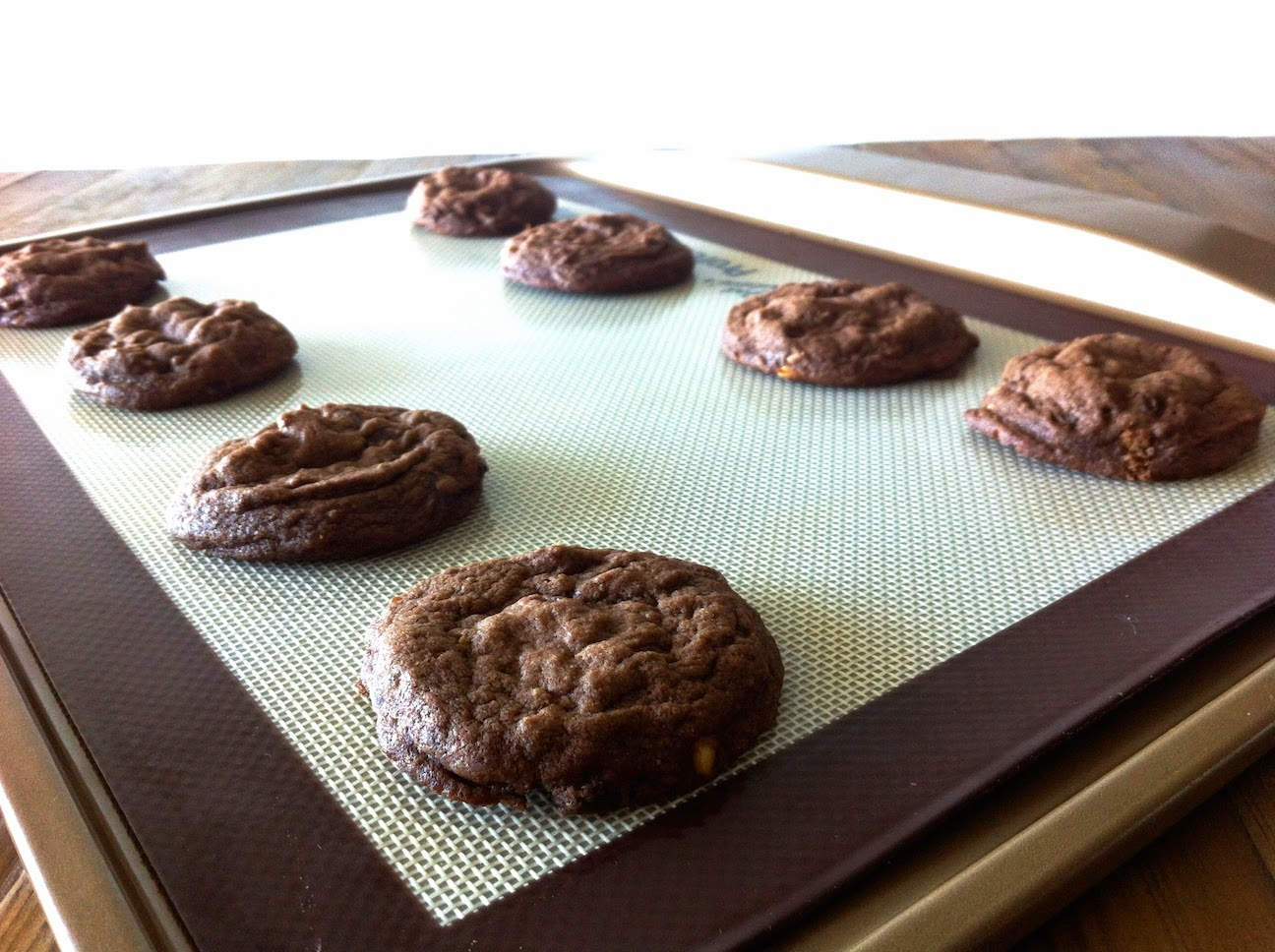 cookies on a baking sheet.