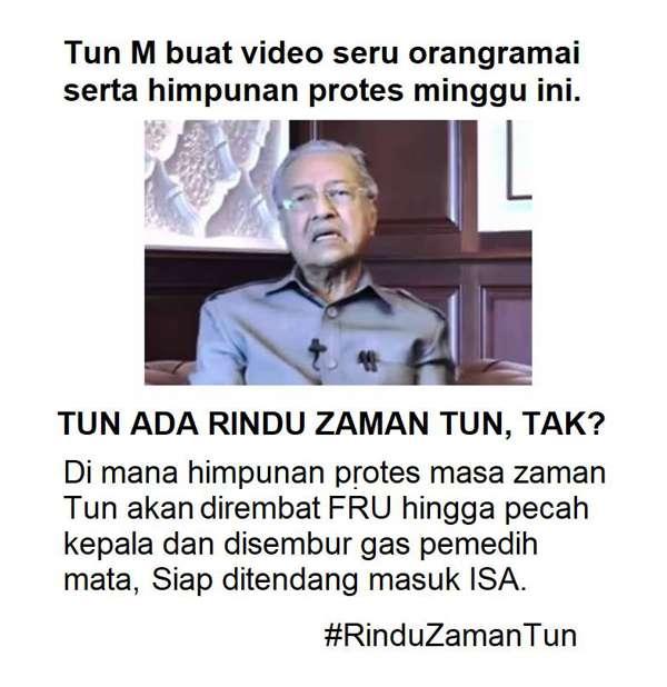 [Video] Mahathir Buat Video Seru Sertai Himpunan Kelentong-Basi