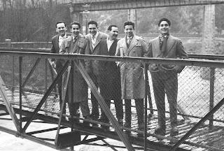 Ajedrecistas del Club Ajedrez Barcelona en La Farga de Bebié, 1956