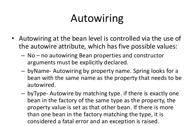 Bean Autowiring in Spring