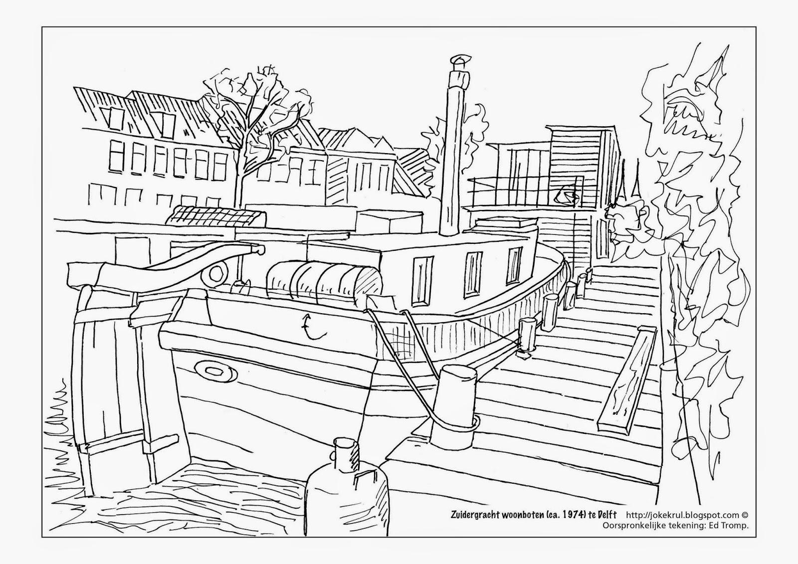 Joke Krul Schilder En Tekenlessen Kleurplaten Van Delft Coloring