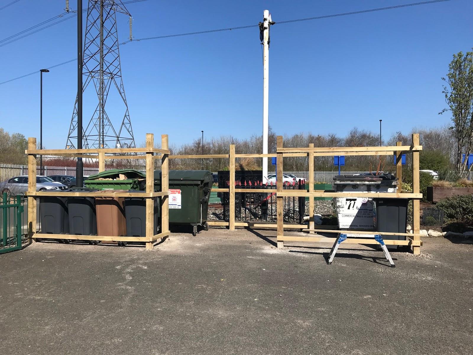 North Tyneside Steam Railway: Bin storage progress