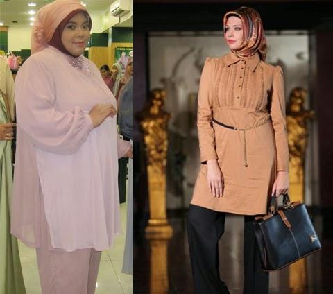 model baju muslim atasan orang gemuk