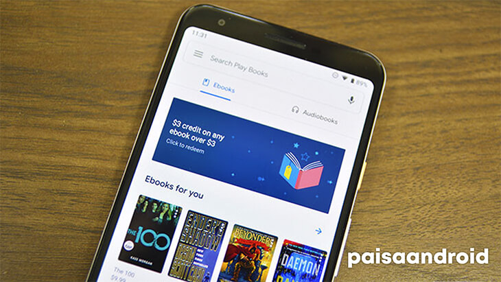 Una foto de Google Play Books, una de las mejores aplicaciones de lectura de libros electrónicos para Android.