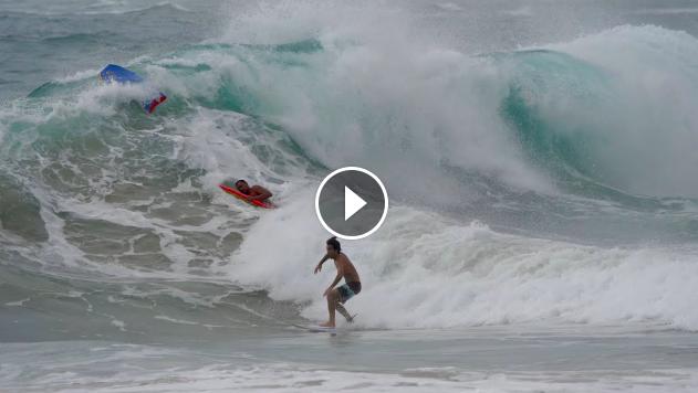 Surfing Hurricane Douglas