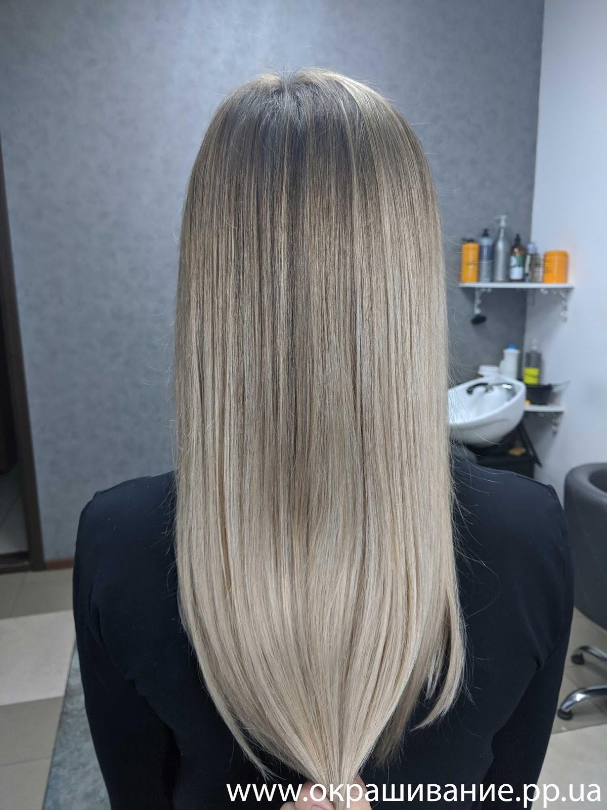 Красивая покраска на темные волосы